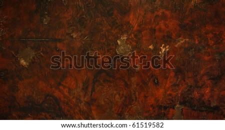 Old wooden surface, mahogany - stock photo