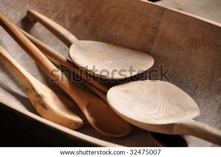 old wooden utensils