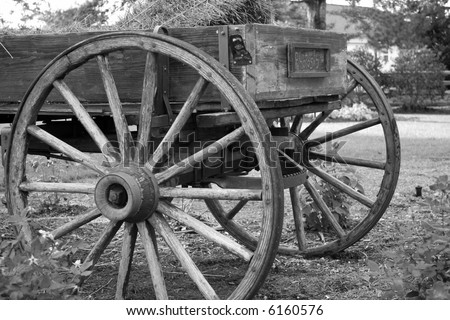 Old Wooden Wagon - stock photo