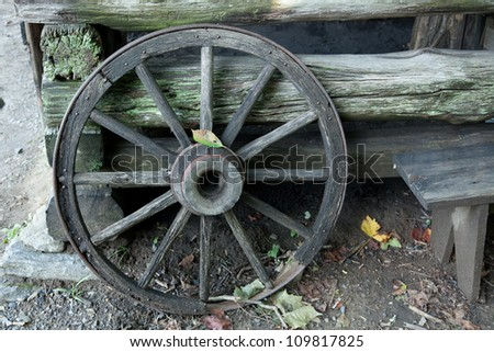 Covered wagon wheel stock photo 6721339 shutterstock for Things to do with old wagon wheels