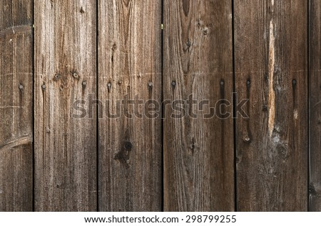 Old wooden wall - stock photo