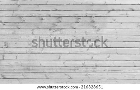 old wooden wall, gray background - stock photo