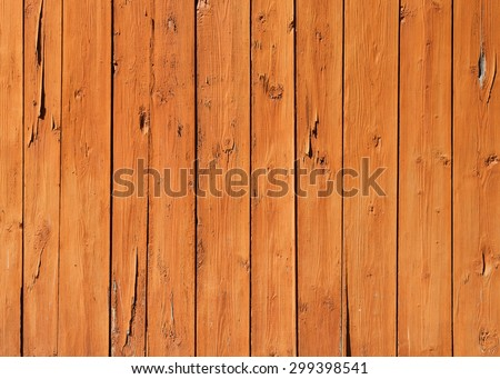 Old wooden wall with cracked paint layer, detailed background photo texture - stock photo