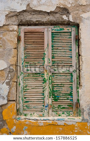 Old wooden window in Karpathos island - Greece