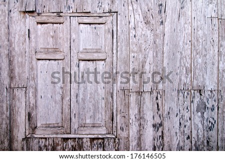 Old wooden window. Thailand traditional style - stock photo