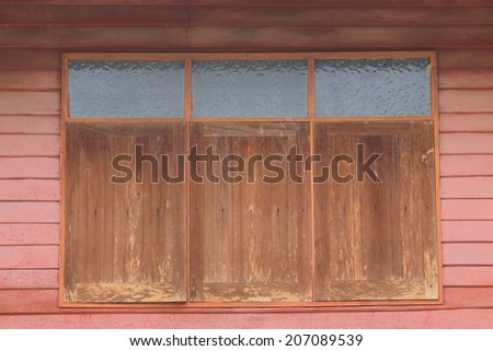 Old wooden window , Thailand traditional style - stock photo