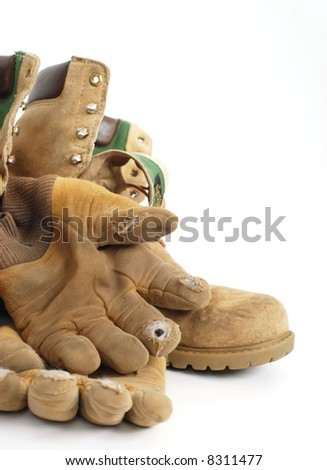 old work gear - stock photo