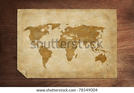 old world map - stock photo