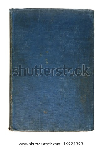 Old Worn Blue Grunge Linen Vintage Book Cover
