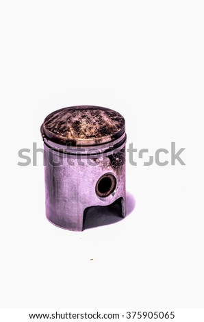 Old Worn Engine Piston