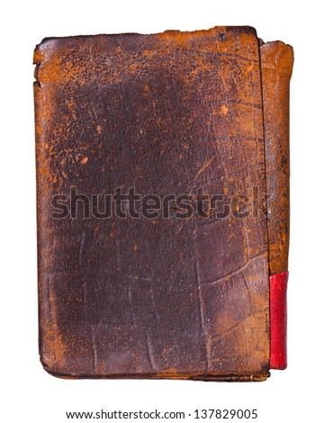 Old worn leather background