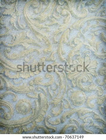 Old worn paper  with classy patterns - stock photo