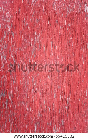 old worn rustic wooden red background texture closeup