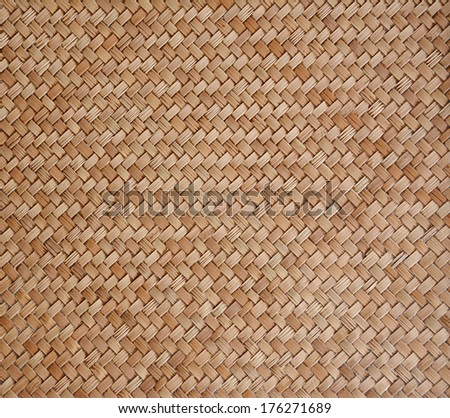Old woven wood pattern - stock photo
