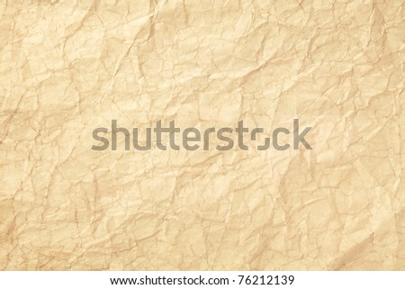 Old wrinkled paper - stock photo
