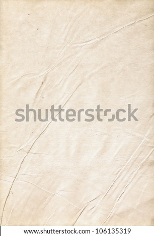 Old wrinkled paper, a clean sheet - stock photo