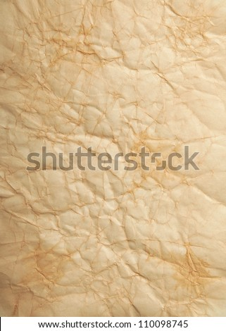 old wrinkled paper background - stock photo