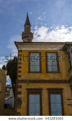 old yellow hause