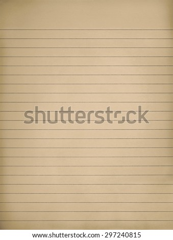 Old yellow lined note paper - stock photo