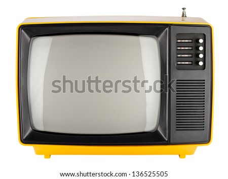old yellow retro TV