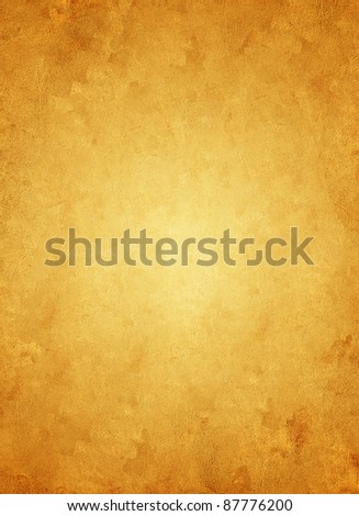 Old yellowed damaged paper - stock photo