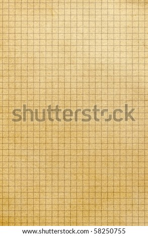 Old yellowing square paper. - stock photo