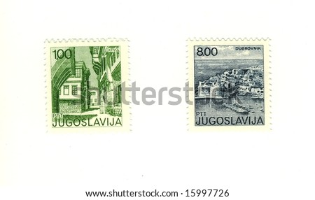 old Yugoslavia stamps