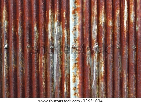 Old zinc fence background - stock photo