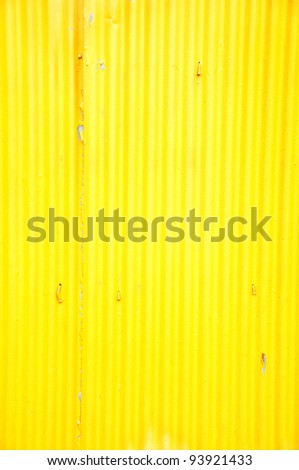 Old zinc yellow color - stock photo