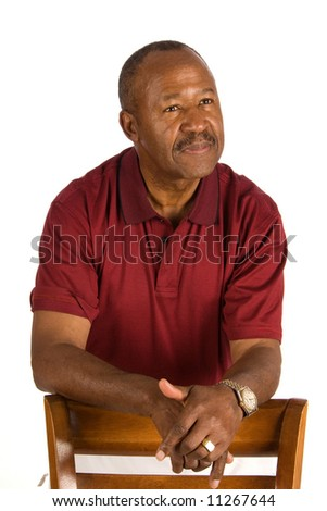 Older African American man. - stock photo