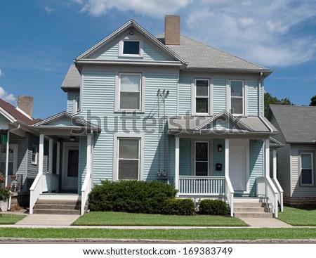Older Blue House - stock photo