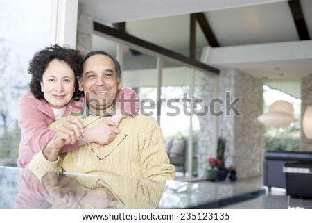 Older Couple at Home - stock photo