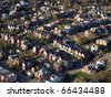 Older working class neighborhood in the eastern United States. - stock photo