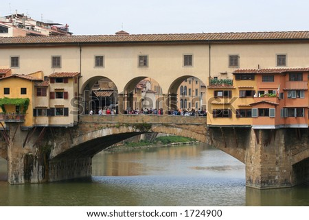 oldest bridge in Florence - stock photo
