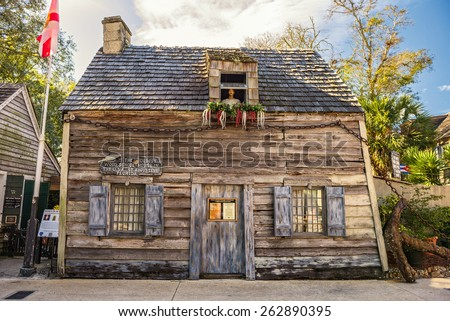 Oldest Schoolhouse in the United States, St. Augustine, Florida - stock photo