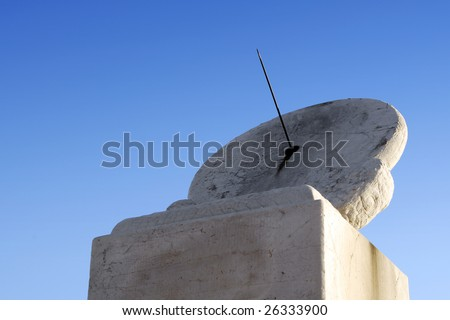 Oldest Sun Clock - stock photo