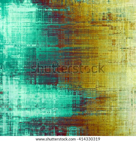 Oldest vintage background in grunge style. Ancient texture with different color patterns: yellow (beige); brown; blue; red (orange); cyan - stock photo