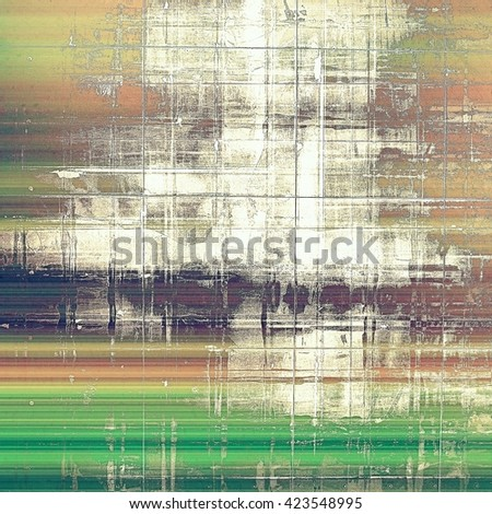 Oldest vintage background in grunge style. Ancient texture with different color patterns: yellow (beige); brown; green; gray; purple (violet); white - stock photo