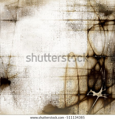 Oldest vintage background in grunge style. Ancient texture with different color patterns: yellow (beige); brown; gray; black; white