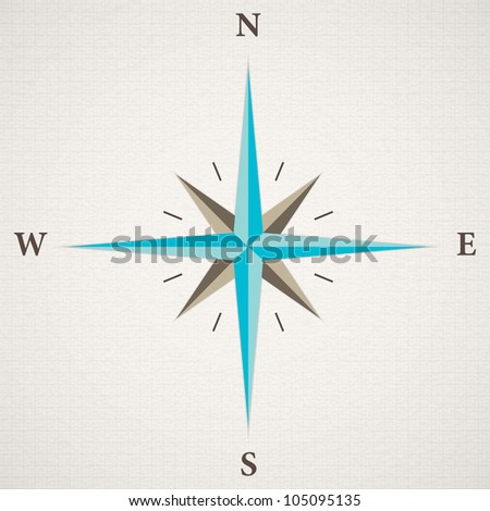Oldstyle wind rose compass - stock photo
