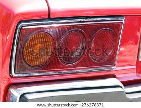 Oldtimer car detail. Old timer car detail. - stock photo