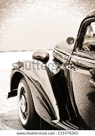 oldtimer in classic style - stock photo