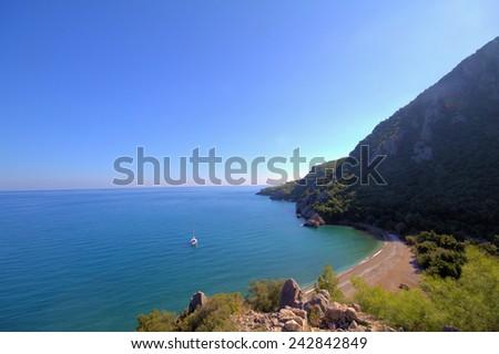 Olimpos Mediterranean Sea and Mountain . Antalya. Turkey - stock photo