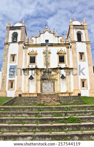 Olinda church - Pernambuco - Brazil - stock photo