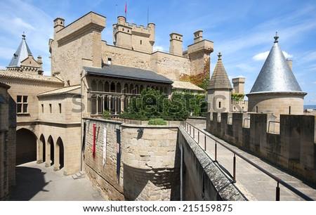 Olite Castle,Navarra,Spain - stock photo