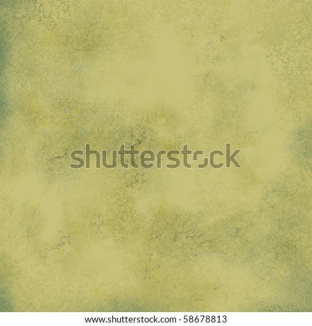 olive and brown background with spattered blue sponge and scratch texture - stock photo