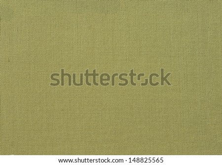 Olive green canvas background or texture  - stock photo