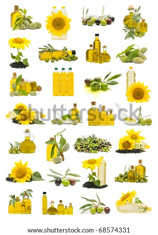 olive oil and sunflower oil