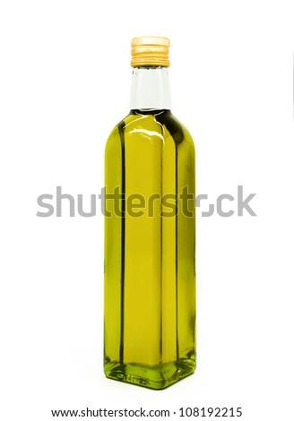olive oil bottle - stock photo