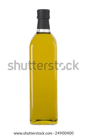 Olive oil bottle. - stock photo